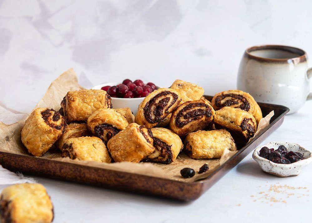 chocolate cranberry rugelach