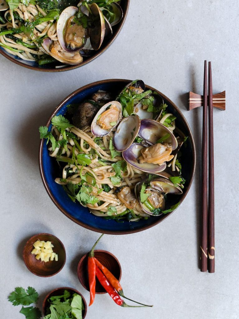 sizzling clams