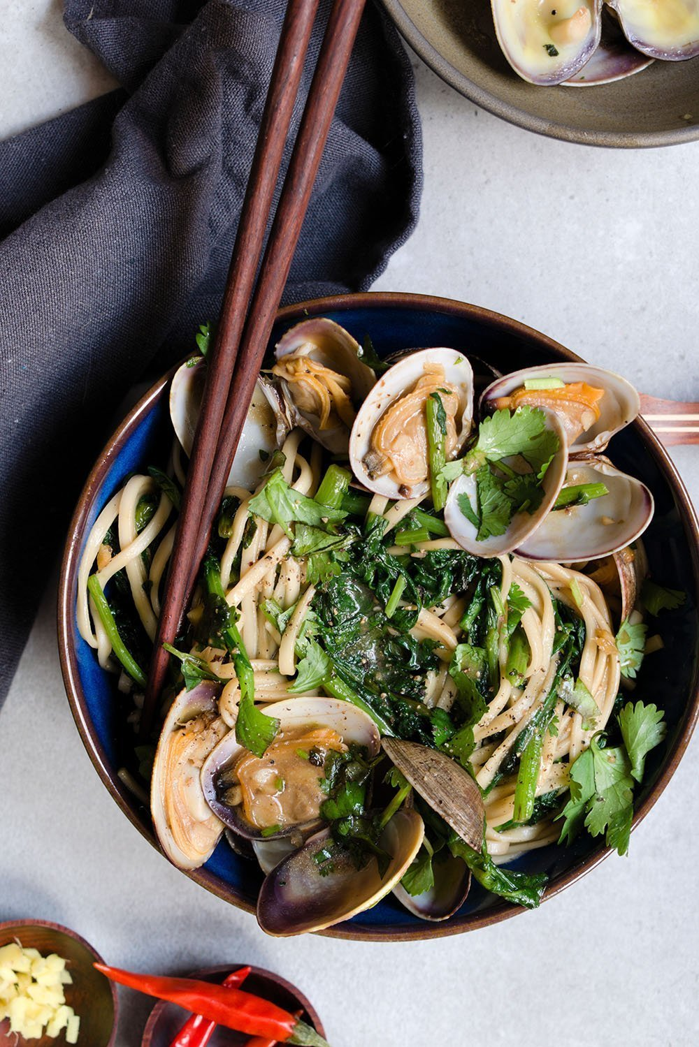 sizzled clams