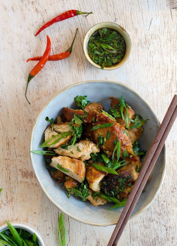 asian fried chicken with chili sauce