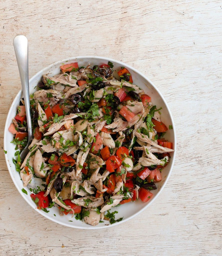 toss chicken together with remaining ingredients