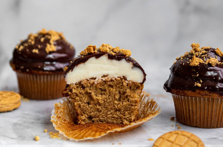 dipped nutter butter cupcakes