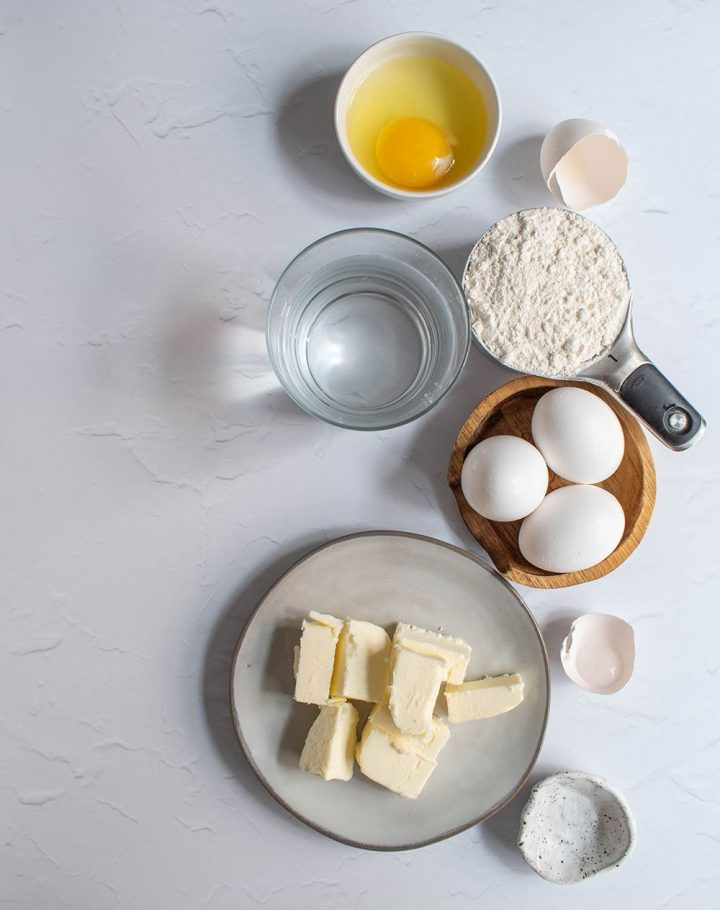 ingredients for cream puffs