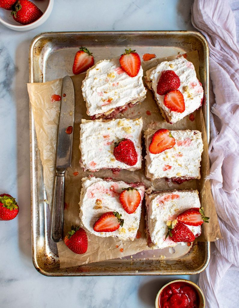 strawberry rosewater tiramisu