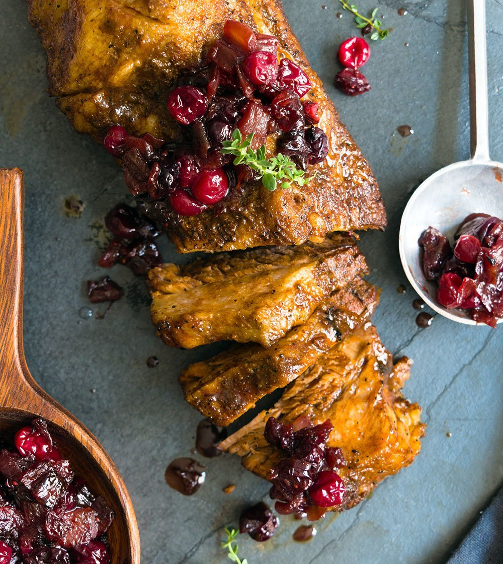 brisket with cranberry jam
