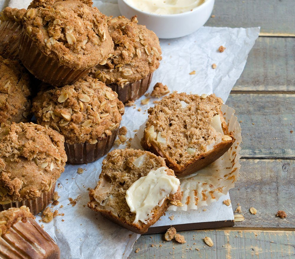 chai spiced pear muffins