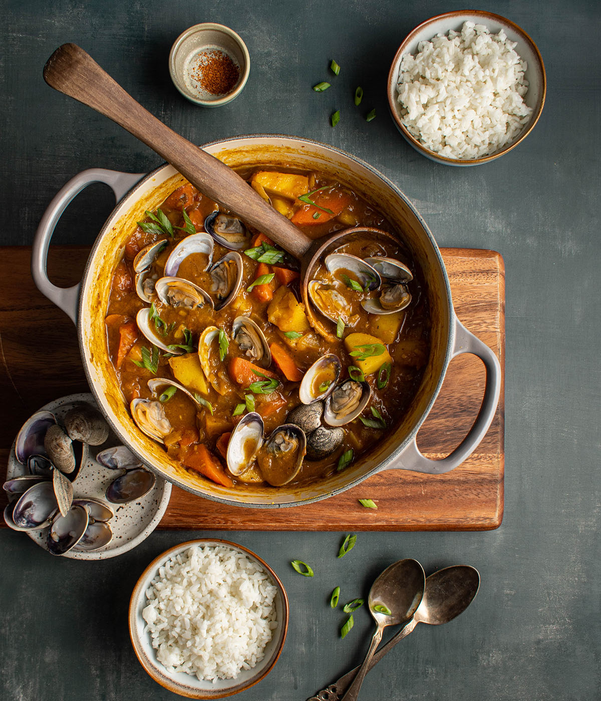 Japanese clam curry