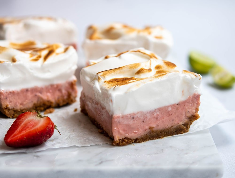 strawberry key lime pie bars