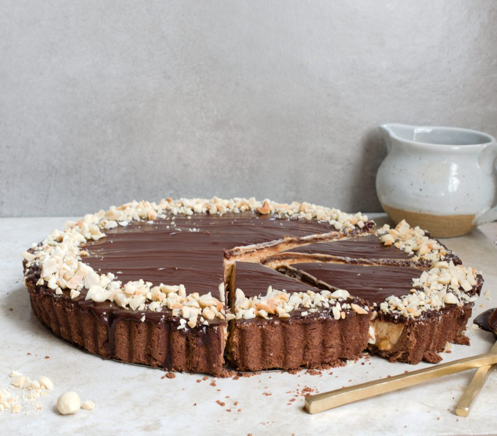 triple threat chocolate tart