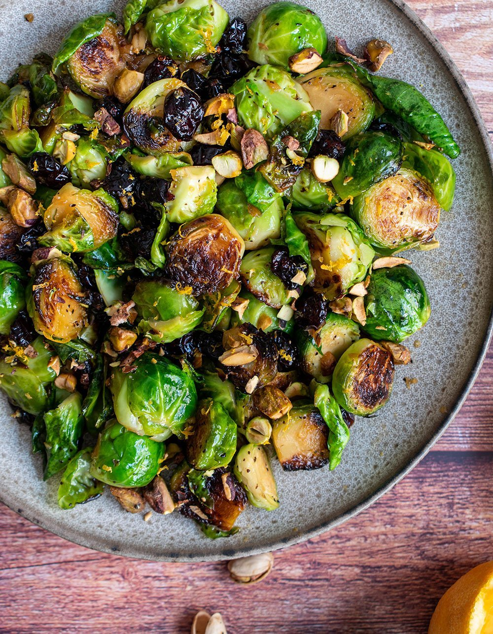 orange roasted brussels sprouts