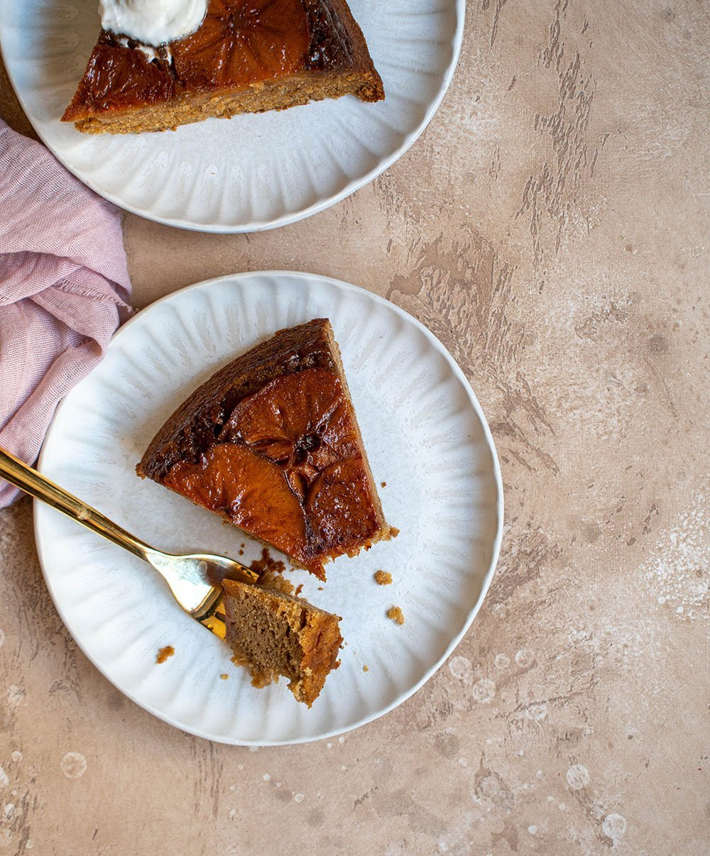 upside down persimmon cake
