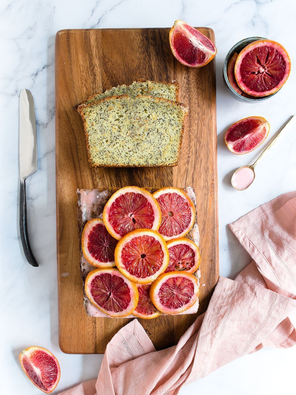 blood orange poppy seed cake