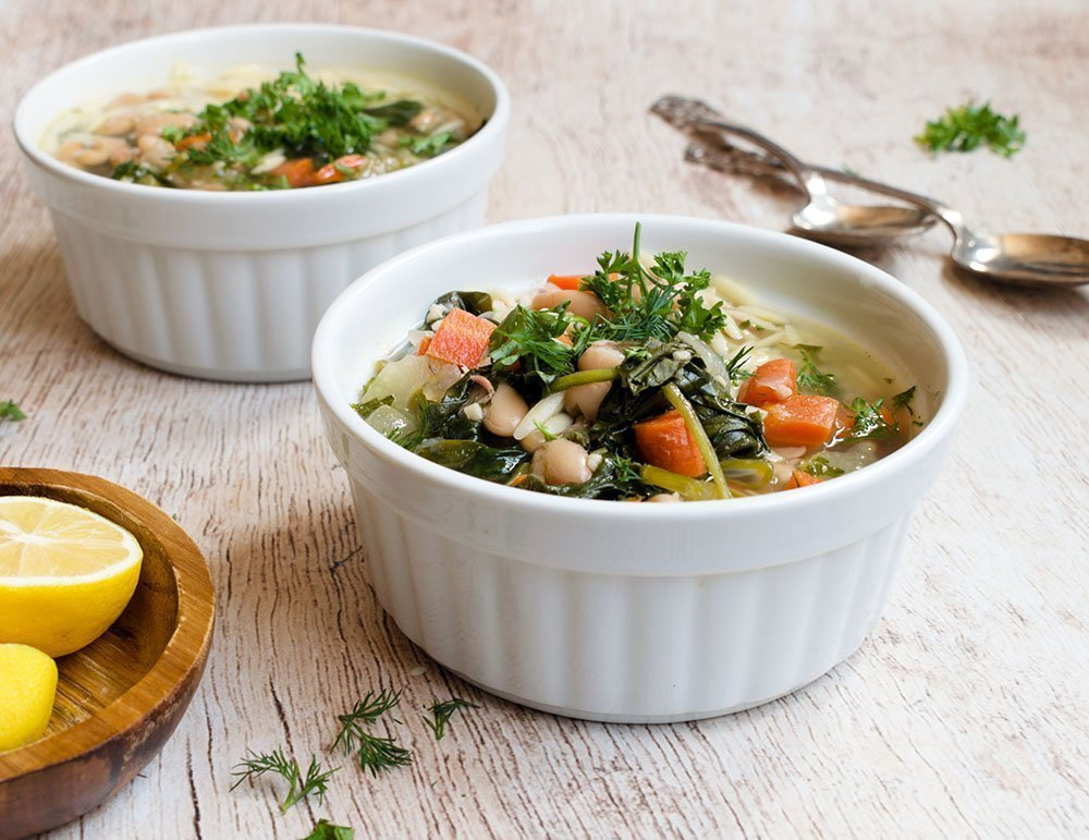 lemon orzo spinach soup