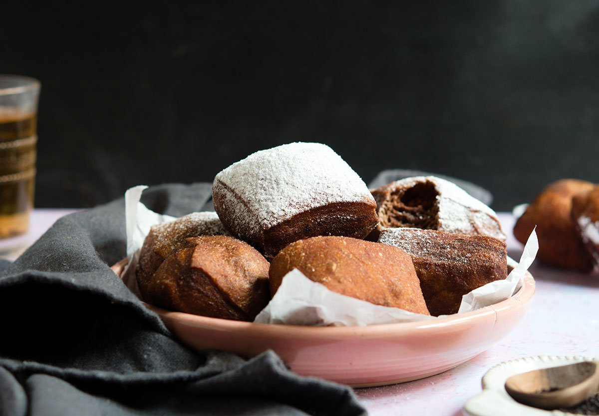 chocolate beignets with earl grey