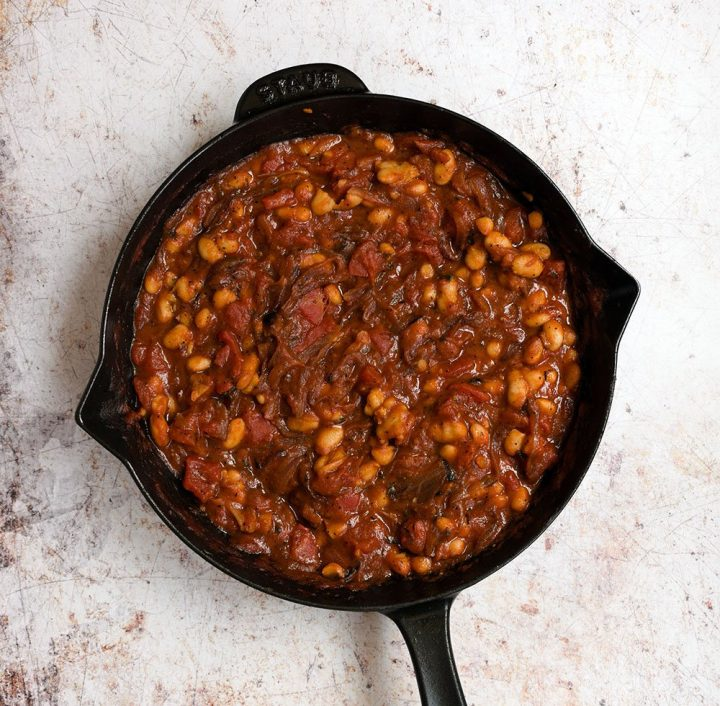 add beans and simmer 10 minutes