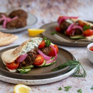 Spiced Lamb Pita Wraps