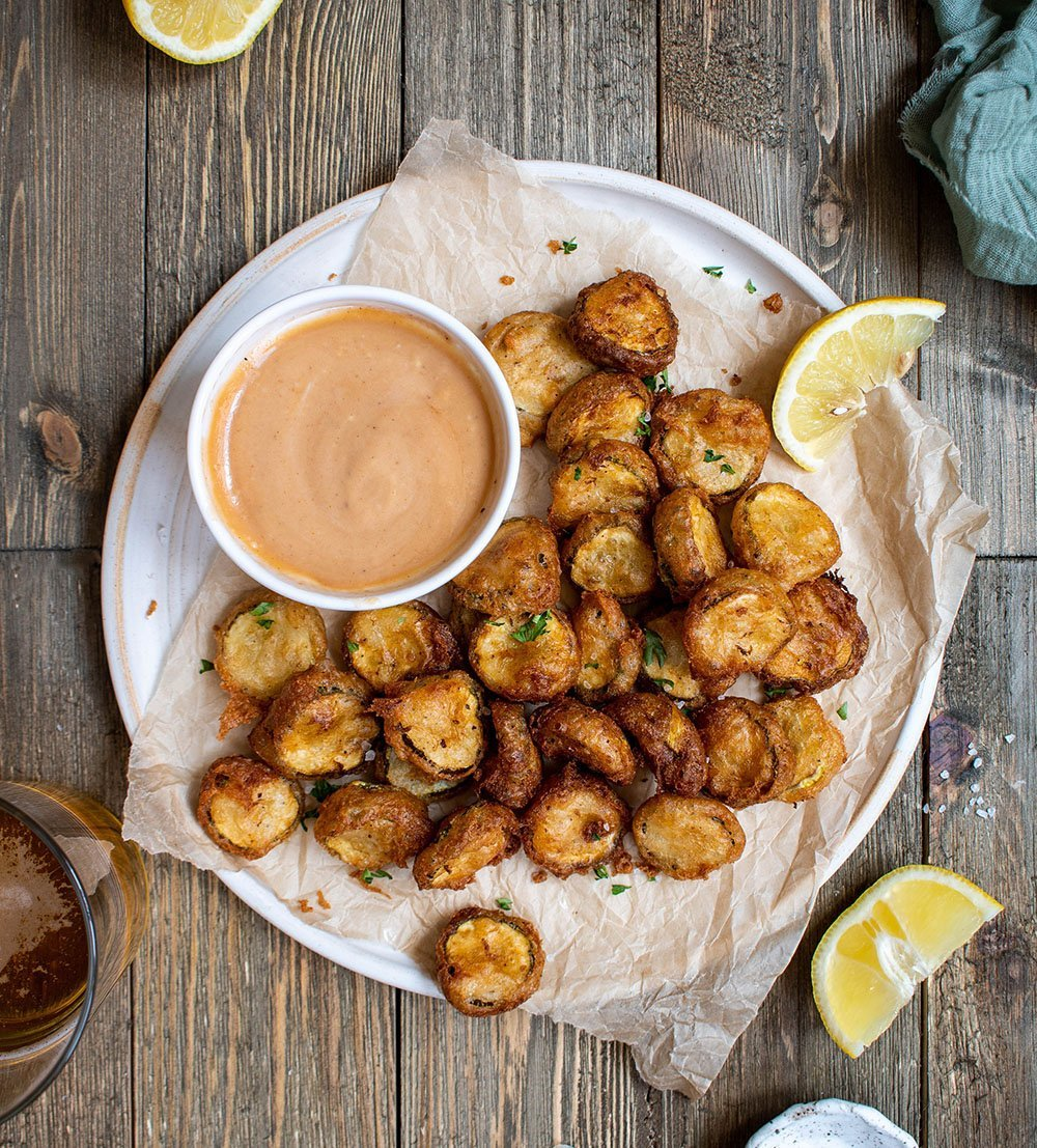 cajun beer battered fried pickles