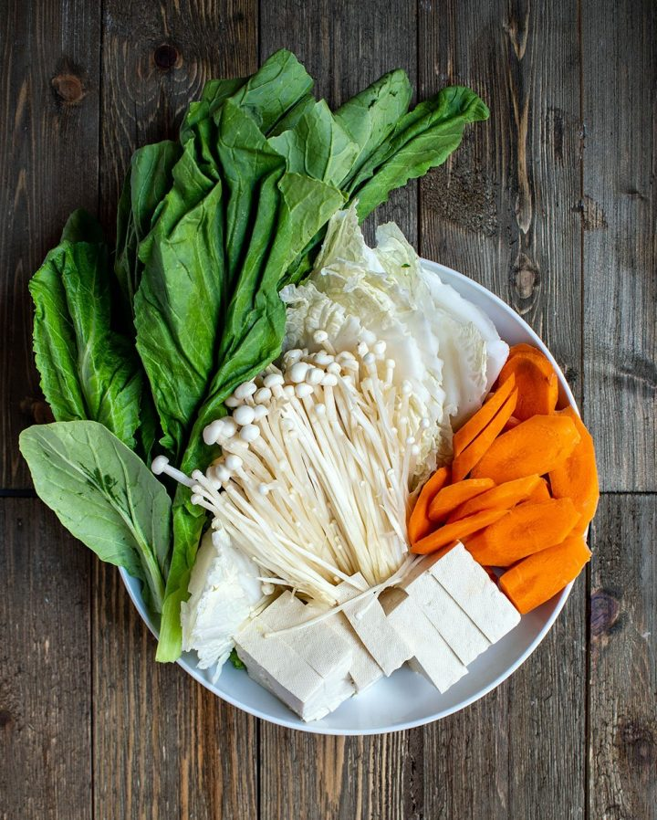 vegetables for the hot pot
