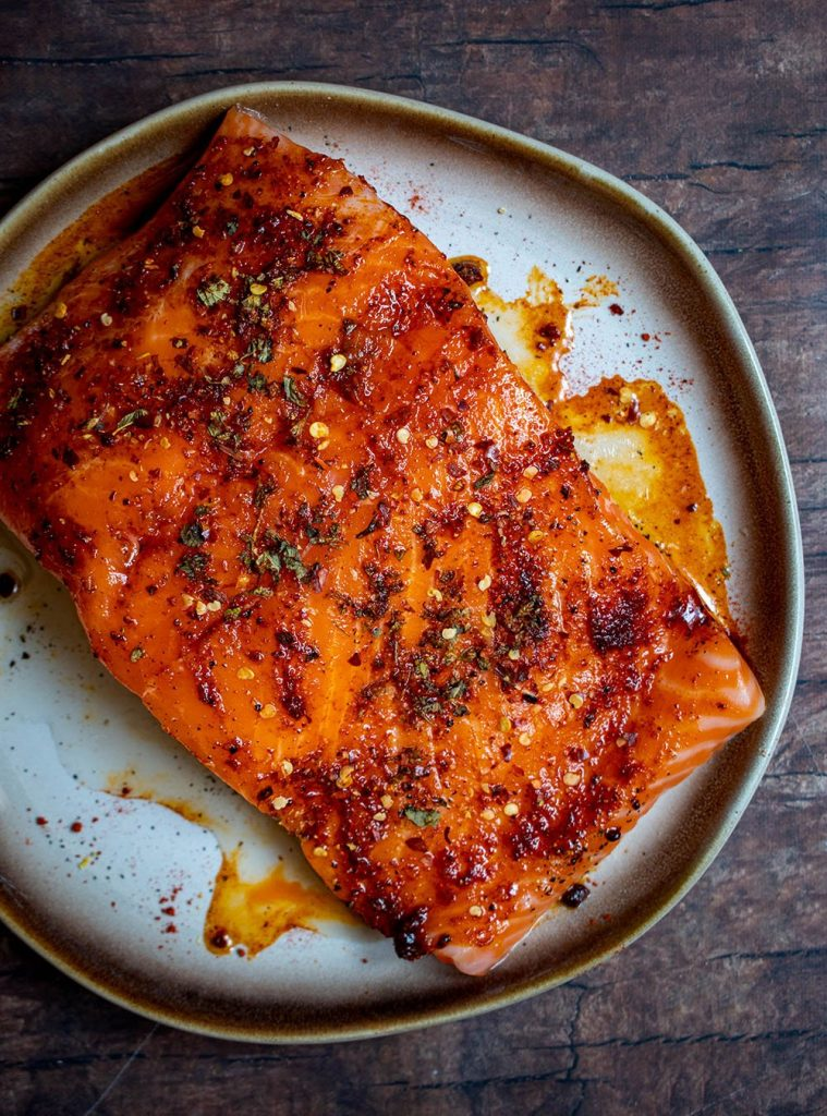 seasoned salmon