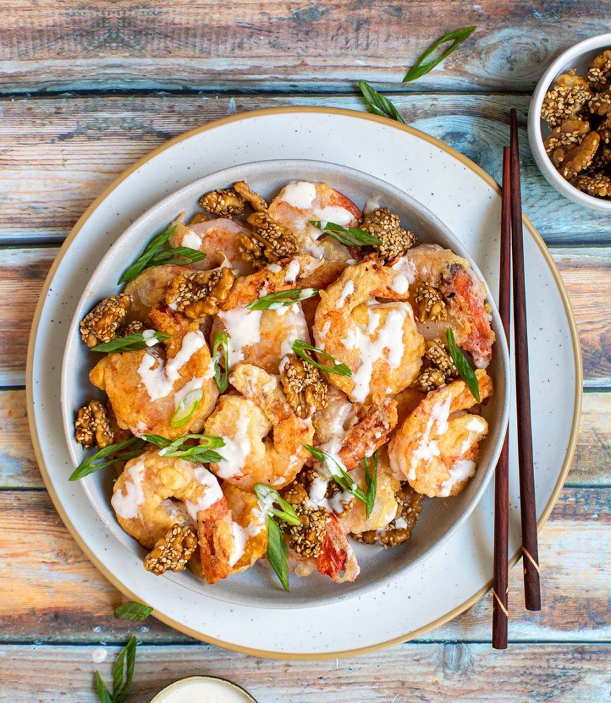 honey walnut coconut shrimp