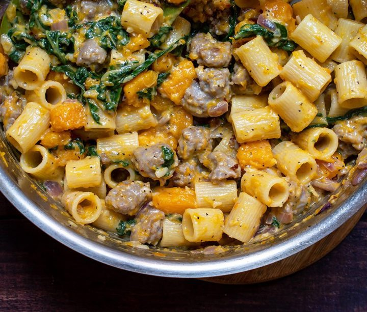toss pasta with vegetables