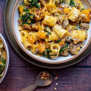 Rigatoni with Butternut Squash and Spicy Sausage