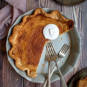 Salted Butterscotch Buttermilk Pie