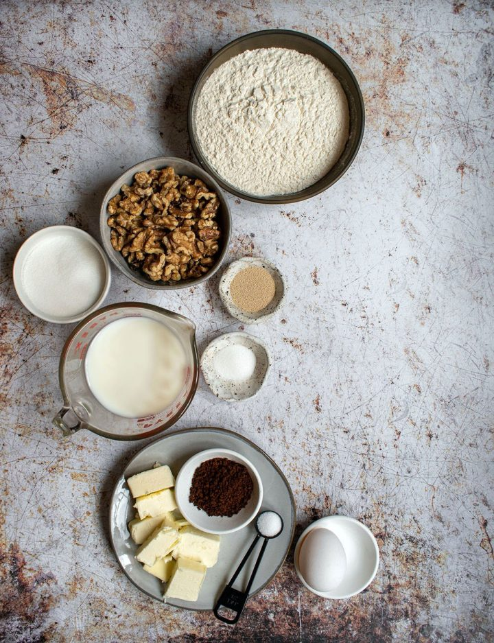 ingredients for the bread