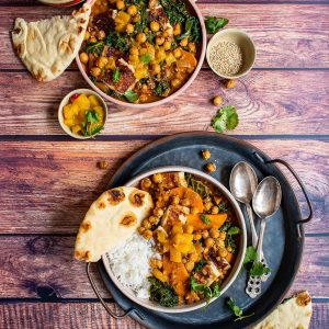 Sweet Potato Lentil Halloumi Curry