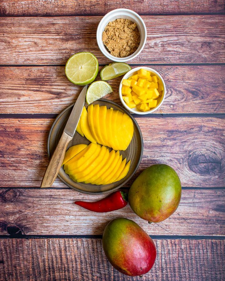 ingredients for the mango chili compote