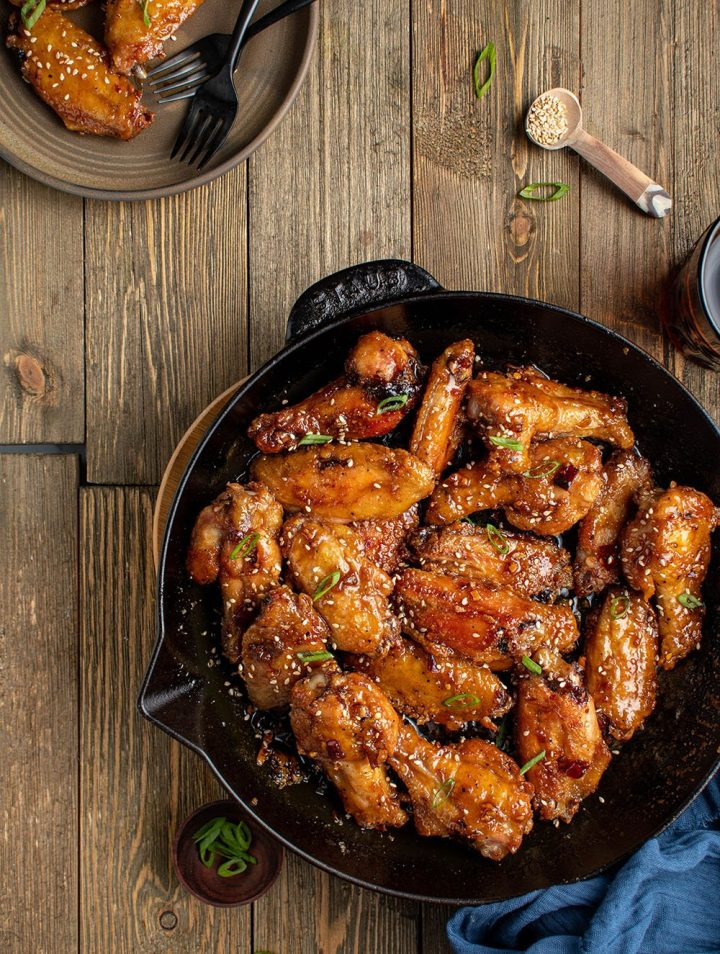 korean sticky sesame chicken wings