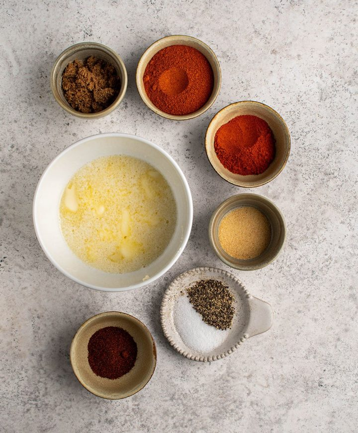 ingredients for the spiced butter