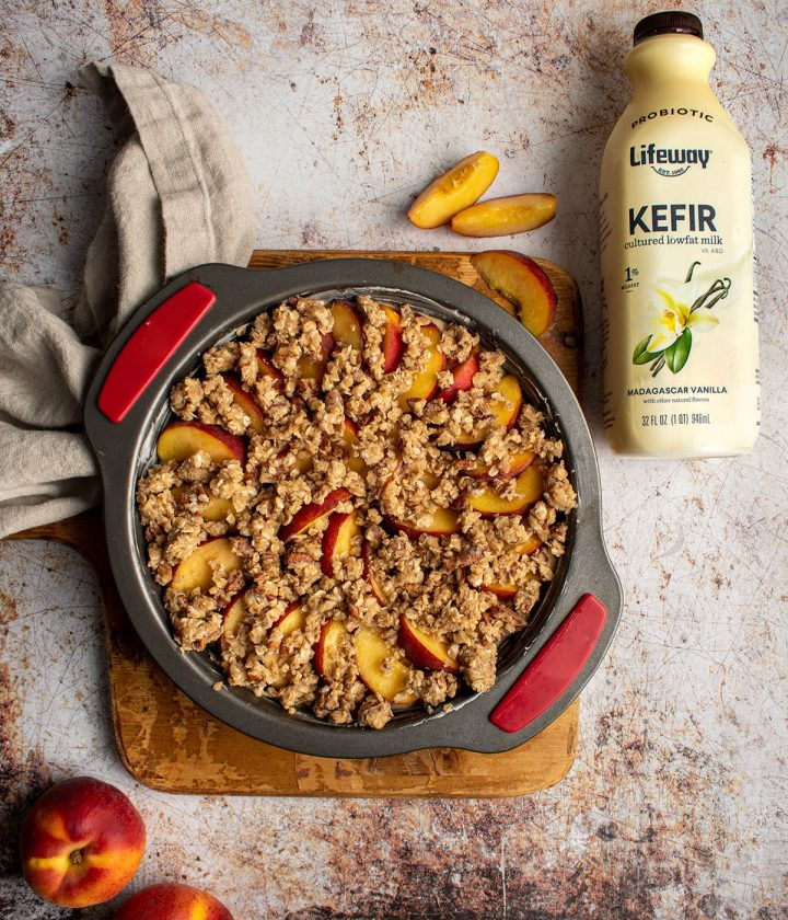 top with crumble