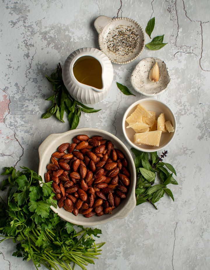 ingredients for the pesto