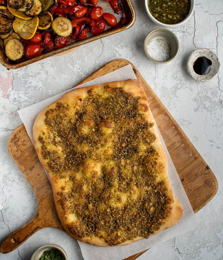 assemble the flatbreads