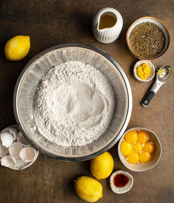 mix dry ingredients with the wet
