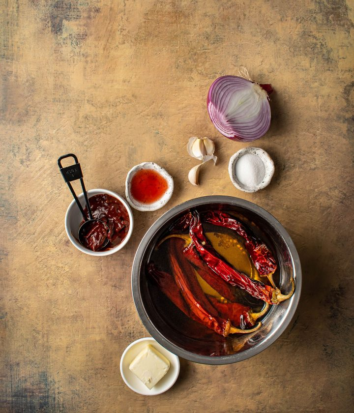 ingredients for the chile sauce