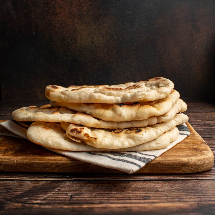brush naan with chili oil