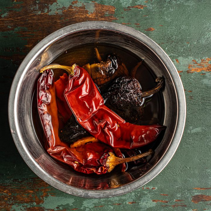 rehydrate chilies