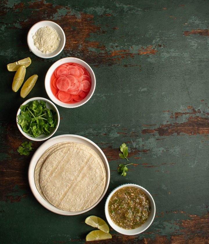 ingredients for the tacos