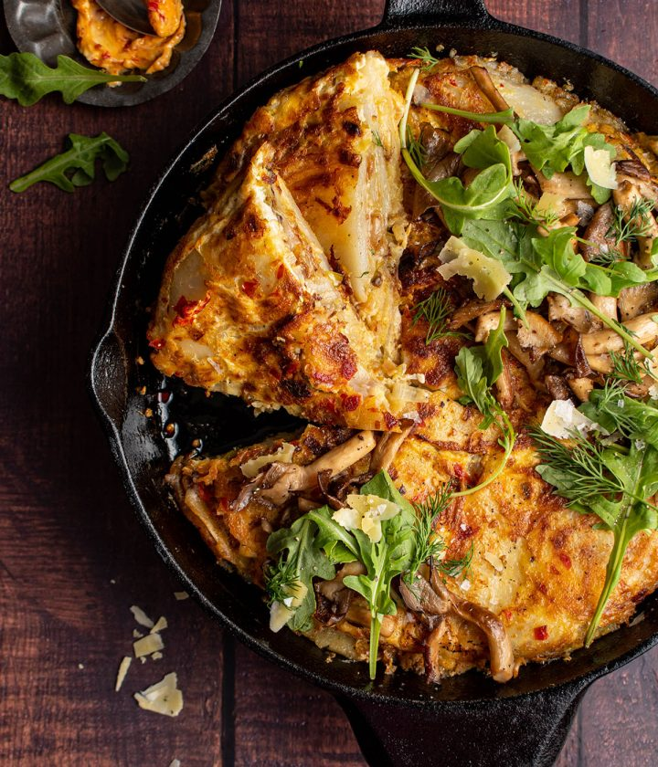 spanish tortilla with calabrian butter